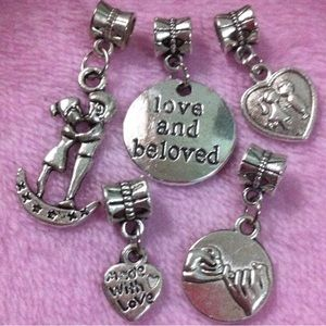 Jewelry - Pinky Promise, Sweet Couple Silver charm set